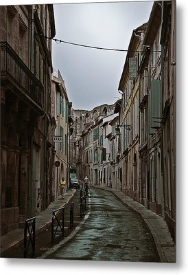 Metal Print featuring the photograph Rainy Arles by Ron Dubin