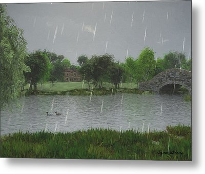 Rainy Day At The Lake Metal Print by Jayne Wilson