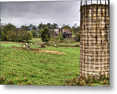 Rainy Day On The Farm Metal Print by Douglas Barnett