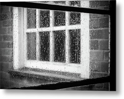 Rainy Day Window Metal Print