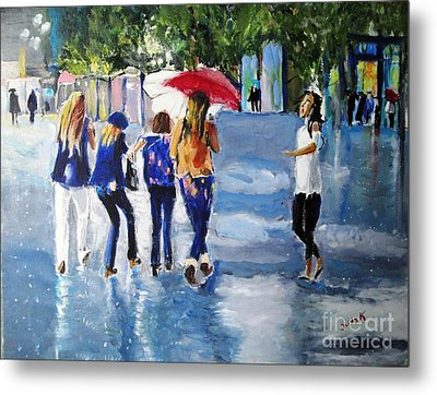 Metal Print featuring the painting Rainy Days And Mondays by Judy Kay