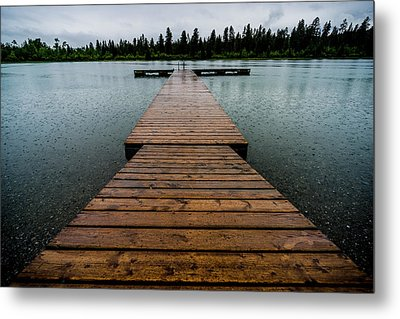 Metal Print featuring the photograph Rainy Dock by Darcy Michaelchuk