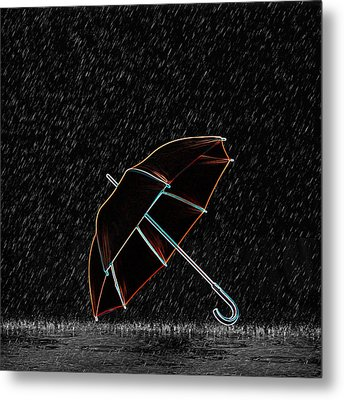 Rainy Night  Metal Print by Art Spectrum