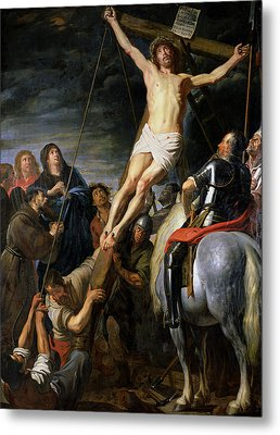 Raising The Cross Metal Print by Gaspar de Crayer