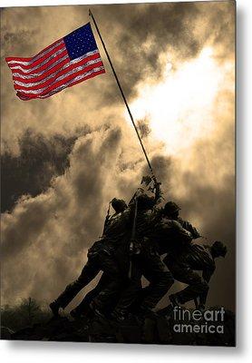 Raising The Flag At Iwo Jima 20130211 Metal Print by Wingsdomain Art and Photography