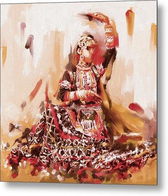 Rajasthani Dancer Metal Print by Mawra Tahreem