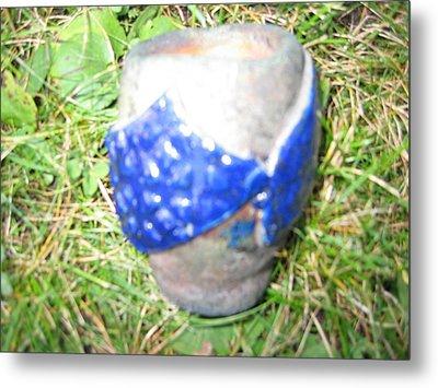 Raku Pinch Pot Metal Print by Julia Van Dine