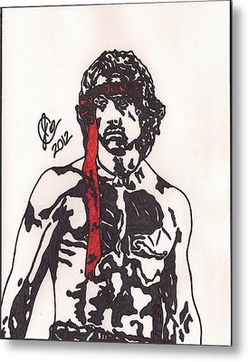 Rambo First Blood Part II Metal Print by Jeremiah Colley