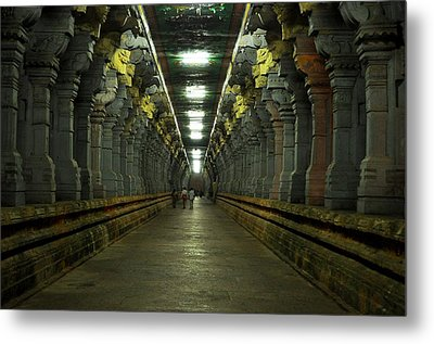 Rameshwaram Temple India Metal Print