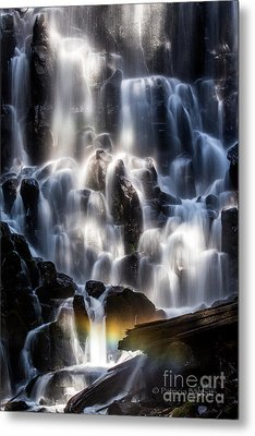 Ramona Falls With Rainbow Metal Print by Patricia Babbitt
