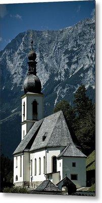 Ramsau Church Metal Print by Frank Tschakert
