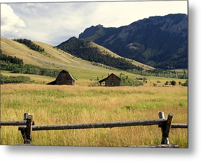 Ranch Along Tom Miner Road Metal Print by Marty Koch