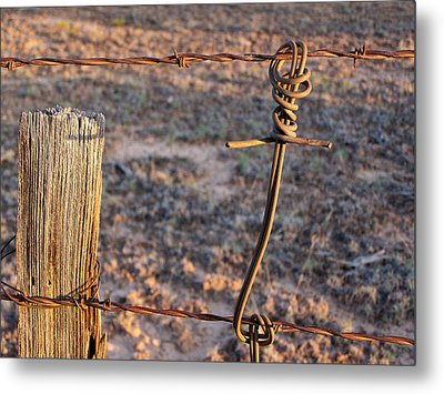 The Old Ranch Fence Metal Print