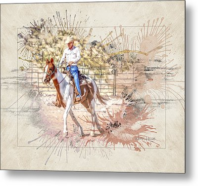 Ranch Rider Digital Art-b1 Metal Print