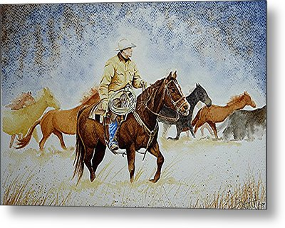 Ranch Rider Metal Print by Jimmy Smith
