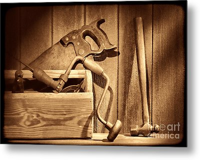 Ranch Tools  Metal Print by American West Legend By Olivier Le Queinec