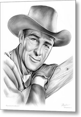 Randolph Scott Metal Print by Greg Joens