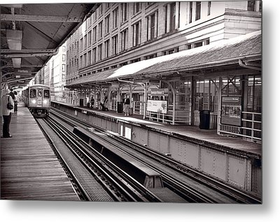 Randolph Street Station Chicago Metal Print by Steve Gadomski