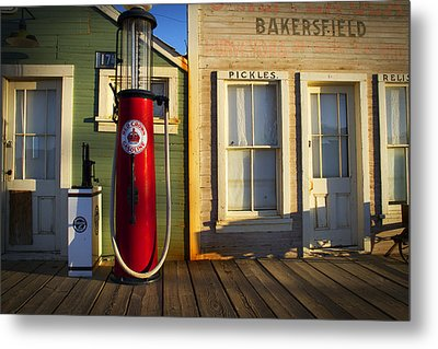 Randsburg Pump Metal Print by Mike Hill