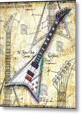 Randy's Guitar Metal Print by Gary Bodnar