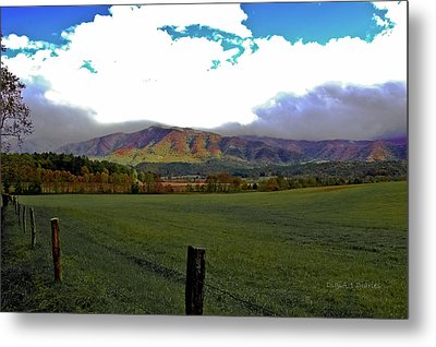 Range Neath The Mountain Metal Print by DigiArt Diaries by Vicky B Fuller