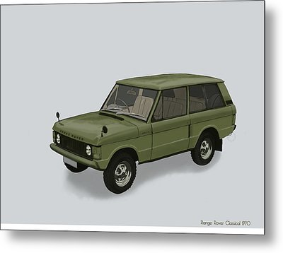 Metal Print featuring the mixed media Range Rover Classical 1970 by TortureLord Art