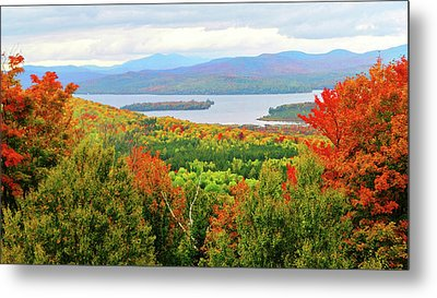 Rangeley Lake And Rangeley Plantation Metal Print