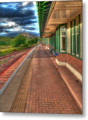 Rannoch Station Platform Metal Print by Chris Thaxter