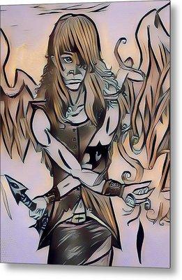Rapheal Angel Of Air Metal Print by Joshua Massenburg