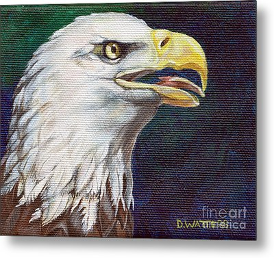 Raptor Attention Metal Print by Darlene Watters