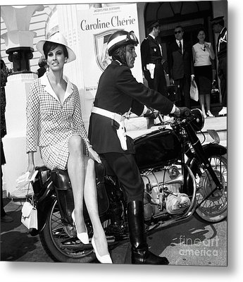 Raquel Welch At The Cannes Film Festival May 1966. Metal Print by The Titanic Project