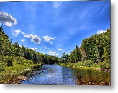 Raquette River Headwaters Metal Print by David Patterson