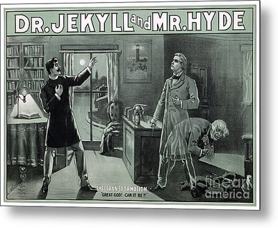 Rare Dr. Jekyll And Mr. Hyde Transformation Poster Metal Print