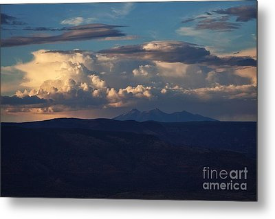 Metal Print featuring the photograph Rare June Storm Glow San Francisco Peaks by Ron Chilston