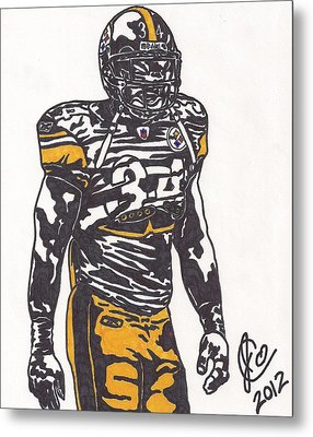 Metal Print featuring the drawing Rashard Mendenhall 2 by Jeremiah Colley