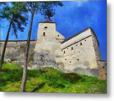 Rasnov Fortress Metal Print by Jeff Kolker