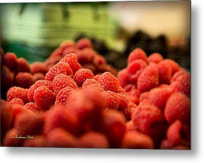 Raspberries At The Market Metal Print