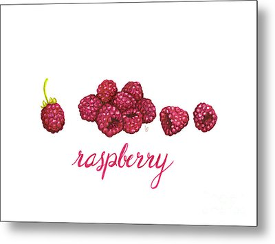 Metal Print featuring the painting Raspberry by Cindy Garber Iverson