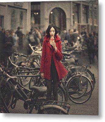 raspberry sorbet in Amsterdam Metal Print by Anka Zhuravleva