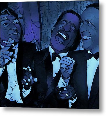 Rat Pack Cool Graphic Abstract Metal Print by Dan Sproul
