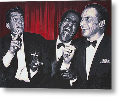 Rat Pack Metal Print by Luis Ludzska