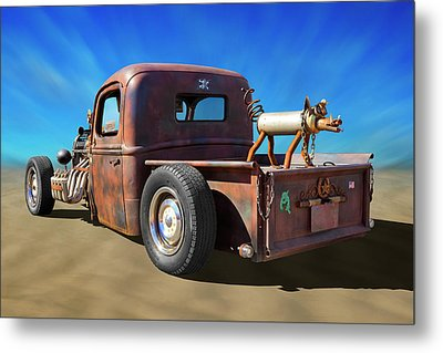 Metal Print featuring the photograph Rat Truck On Beach 2 by Mike McGlothlen