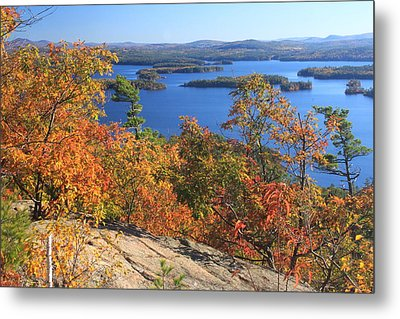 Rattlesnake Cliffs Squam Lake Metal Print