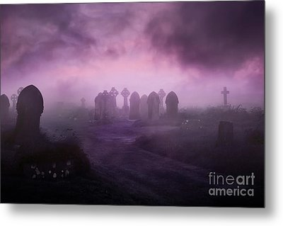 Rave In The Grave Metal Print