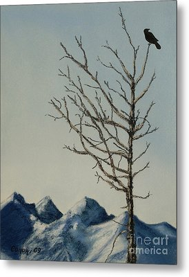 Raven Brought Light Metal Print by Stanza Widen