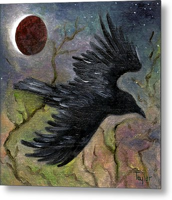Raven In Twilight Metal Print by FT McKinstry