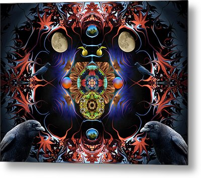 Raven Moon #2 Metal Print by Glen Faxon
