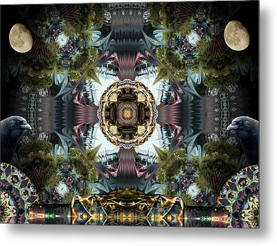 Raven Moon Metal Print by Glen Faxon