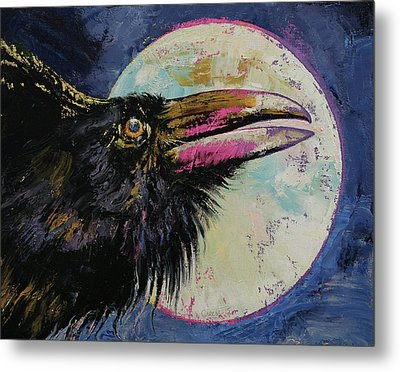 Raven Moon Metal Print by Michael Creese