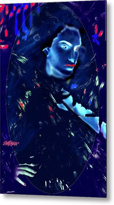 Metal Print featuring the digital art Raven Woman by Seth Weaver